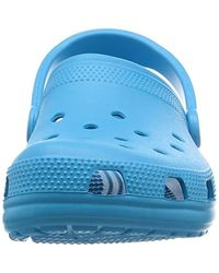 Crocs™ Blue And Classic Clog, Comfort Slip On Casual Water Shoe