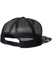 Rip Curl Black Patch Trucker Mesh Hat, for men