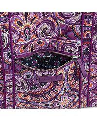 Vera Bradley Purple Iconic Small Vera Tote, Signature Cotton