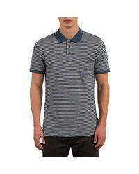 Volcom Blue Wowzer Stripe Polo for men