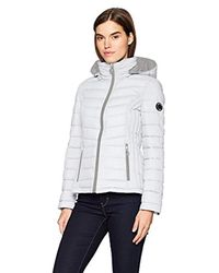 Nautica White Short Stretch Packable Coat