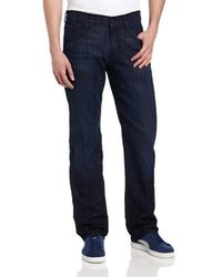 7 For All Mankind Blue Jeans Relaxed Fit Straight Leg Pant for men
