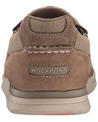 Rockport Brown Langdon Slip On Oxford, Taupe Nubuck, 6.5 W Us for men