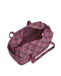 Vera Bradley Purple Signature Cotton Large Travel Duffel Travel Bag