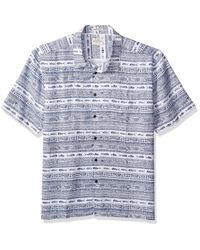 Quiksilver Blue Tapua Sunrise Shirt for men