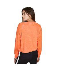 Pam & Gela Orange Cropped Sweatshirt
