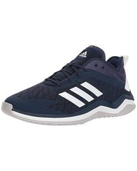 Adidas Speed Trainer 4 Baseball Shoe, Collegiate Navy/crystal White/dark Blue-sld, 5.5 M Us for men