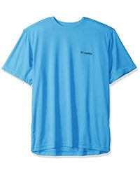 Columbia Blue Meeker Peak Short Sleeve Crew, Sun Protection, Breathable for men