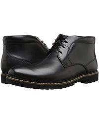 Rockport Black Marshall Chukka Chukka Boot for men
