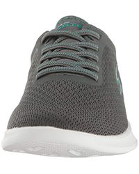 Skechers Gray Performance Go Step Lite Lace-up Walking Shoe