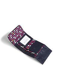 Vera Bradley Blue Iconic Rfid Riley Compact Wallet, Signature Cotton