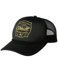 27a7d3221f8 O neill Sportswear. Women s Black Shop Talk Screen Print Foam Trucker Hat