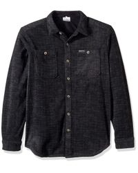 Columbia Black Flare Gun Fleece Over Shirt for men