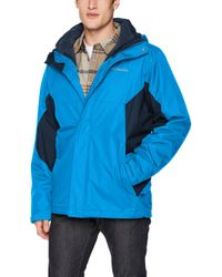 Columbia Blue Eager Air Interchange Jacket for men