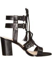 Nine West Black Ginger Patent Gladiator Sandal