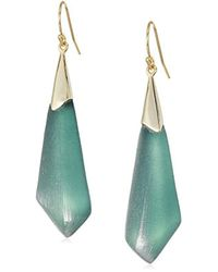 Alexis Bittar - S Faceted Wire Earrings, Teal Blue - Lyst