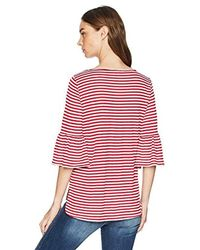 Max Studio Red Bell Sleeve Knit Top