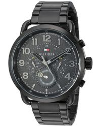 Tommy Hilfiger Quartz Watch With Stainless-steel Strap, Black, 21 (model: 1791423) for men