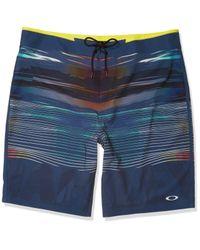 """Oakley Optical Print 21"""" Boardshorts in Blue für Herren"""