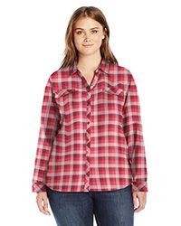 Columbia Red Simply Put Ii Plus Size Flannel Shirt