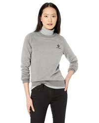 Converse Gray Star Chevron Embroidered Crew Sweatshirt