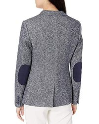 Tommy Hilfiger Multicolor Two Button Marled Sweatshirt Blazer