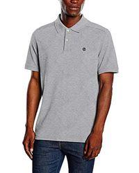 SS Millers River Pique Reg Polo T-Shirt Manica Corta Uomo di Timberland in Black da Uomo