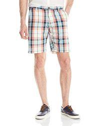 Gant Blue Madras Short for men