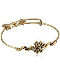 "ALEX AND ANI - Metallic Spiritual Armor Endless Knot Expandable Wire Bangle Bracelet, 7.75"" - Lyst"