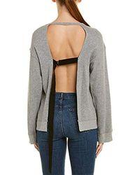 Pam & Gela Gray Open Back Sweatshirt
