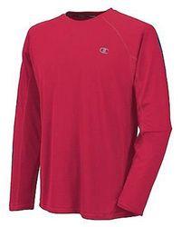 Champion Black Powertrain Long-sleeve Raglan T-shirt for men