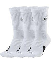 Basket Elite Crew Everyday di Nike in White