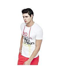 T-Shirt Guess pour homme en coloris White