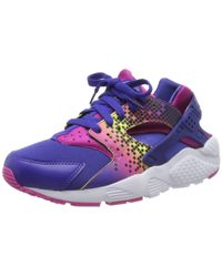 Huarache Run Print GS 704946-500 Nike en coloris Purple