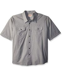 Wrangler Multicolor Authentics Big And Tall Authentics Big & Tall Short Sleeve Classic Woven Shirt for men