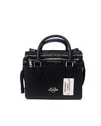 Pu Handbag Nero di Love Moschino in Black
