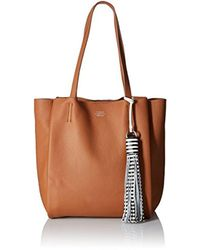 Vince Camuto Nylan Small Tote, Chestnut Brown