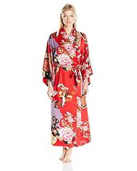 Natori Red Mikado Robe