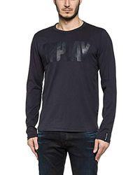 Replay - Blue Longsleeve T-shirt for Men - Lyst