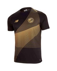 New Balance Black Costa Rica Gold Cup Short Sleeve Jersey for men