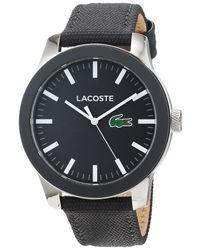 Analogique Classique Quartz Montre avec Bracelet en Tissu 2010919 Lacoste pour homme en coloris Gray