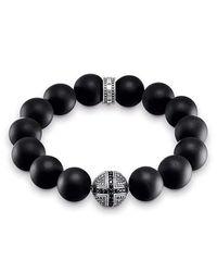 Unisexe Bracelet Power Bracelet Croix Argent Sterling 925, Noirci A1572-705-11 Thomas Sabo en coloris Black