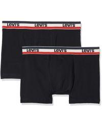 Levi's Black 200sf Sprtswr Logo Color Boxer Brief 2p Shorts for men