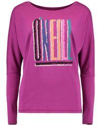 O'neill Sportswear Pink Longsleeve Reissue T-Shirt LS