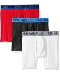 Charged Cotton 6in 3pk di Under Armour in Multicolor da Uomo