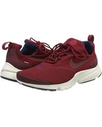 Nike Red Presto Fly Shoes for men
