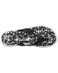 Under Armour Black Marbella Digi Vi Thong Flip-flop