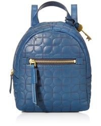 Fossil Blue Megan Mini Backpack Handbag Leather Zb7920497