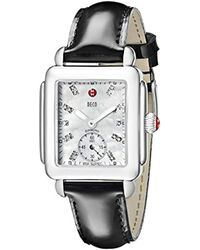Michele Multicolor Mww06v000010 Deco 16 Analog Display Swiss Quartz Black Watch