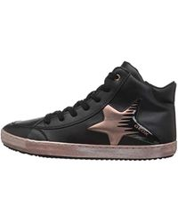 Geox Mädchen J Kalispera Girl B Hohe Sneaker in Black für Herren